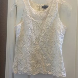 Lined ladies lace top petite small